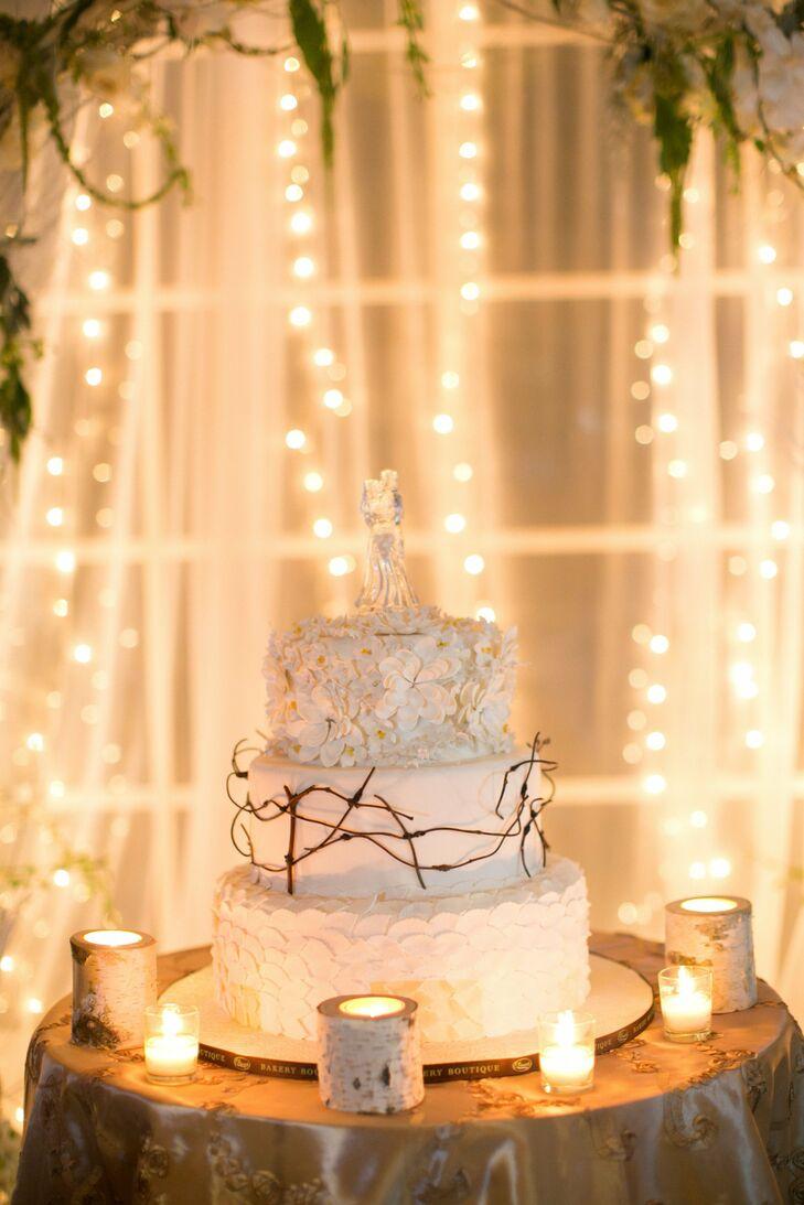 White Woodland Cake