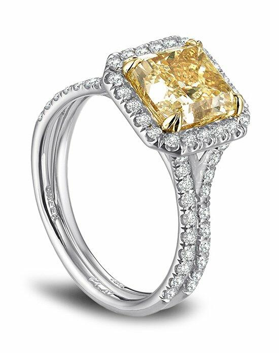 Platinum Engagement and Wedding Ring Must-Haves Uneek Platinum Engagement Ring with Yellow Diamond Engagement Ring photo