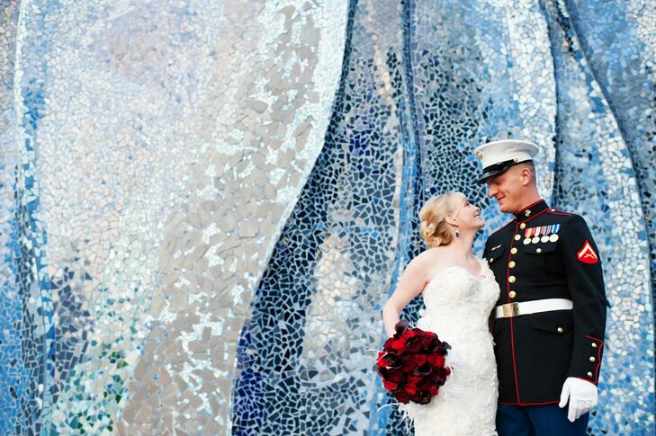 The Bride Alicia Agres, 25, a law student The Groom Joseph (Joey) Gartrell, 29, infantry in the US Marine Corps The Date December 31  It only made sen