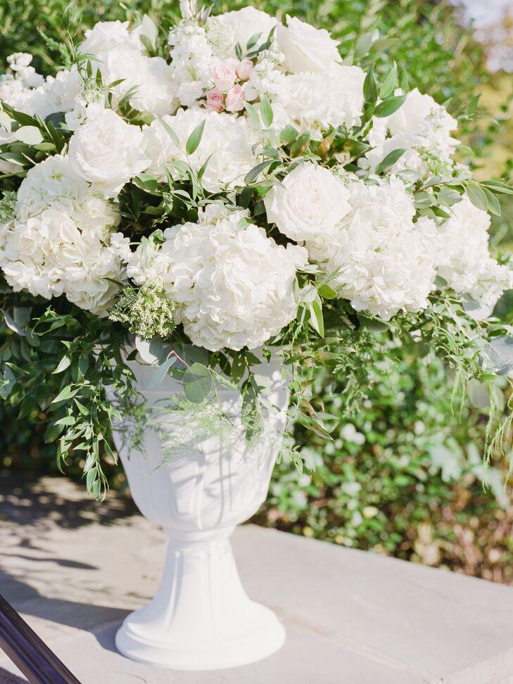 White rose and hydrangea floral arrangements mightylinksfo