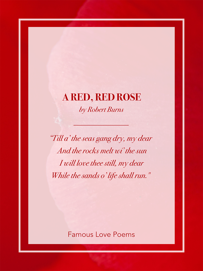 Famous love poems image