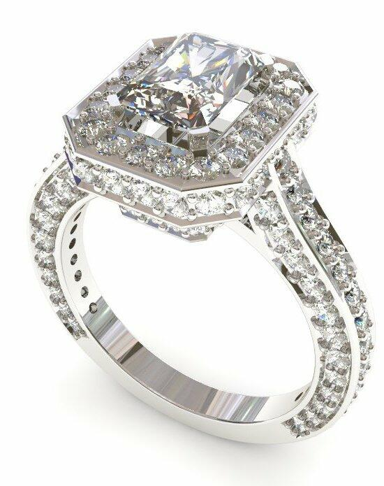 Enchanted Diamonds Halo Micropave‎ Radiant HL8-4W-D Engagement Ring photo