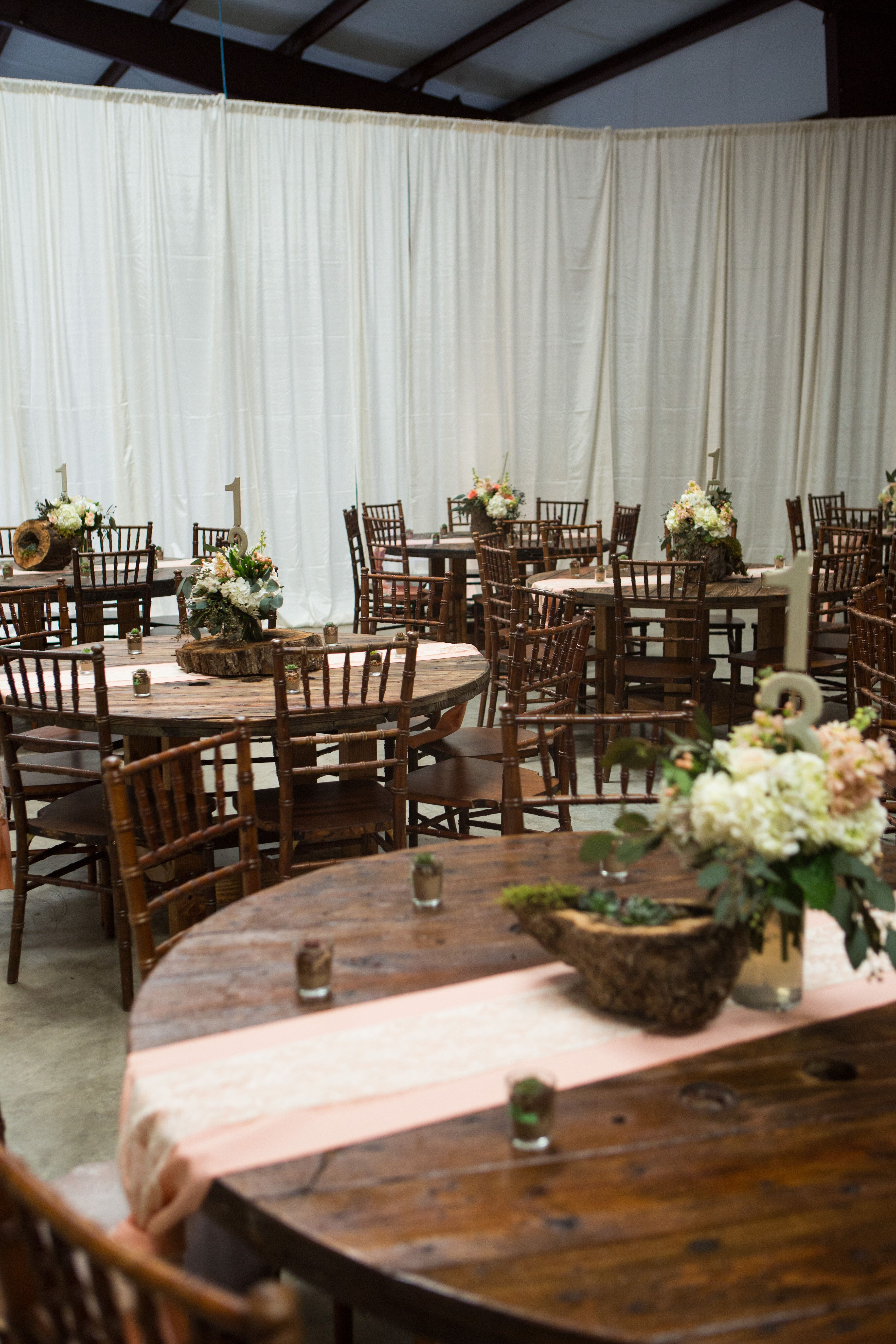 Rustic Cable Spool Dining Tables