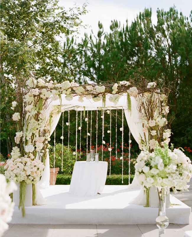Square Wedding Arch Decoration Ideas: A Romantic All-White Wedding By Marisa Holmes