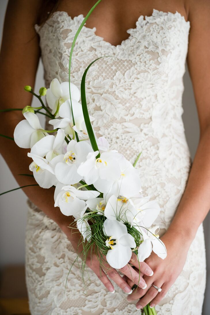 Simple White Orchid Bouquet