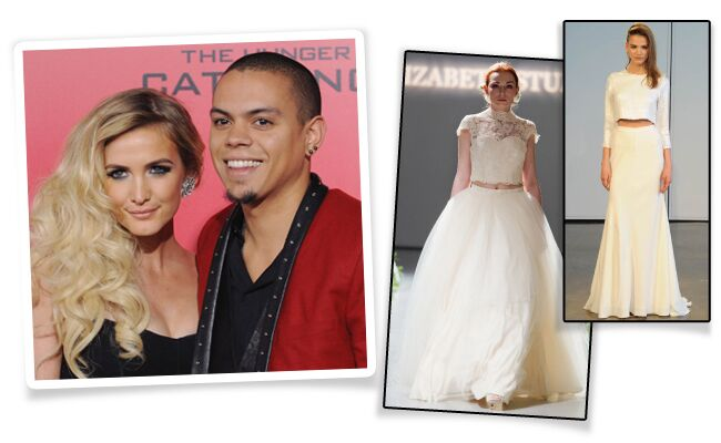 Ashlee Simpson Wore A Crop Top Wedding Dress At Her Bohemian Ceremony