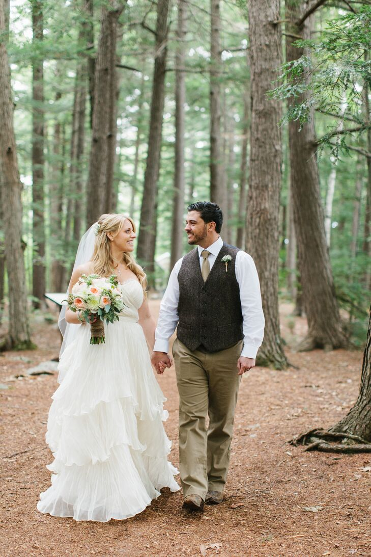 Alissa and Greg Rustic Forest Photos