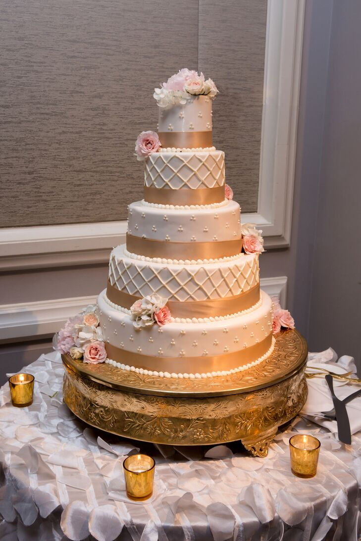 wedding cake with gold ribbon a timeless wedding at the ritz carlton naples 26902