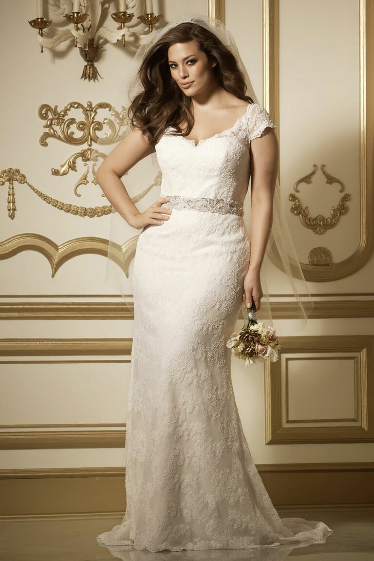 Plus Size Dresses with Cap Sleeves