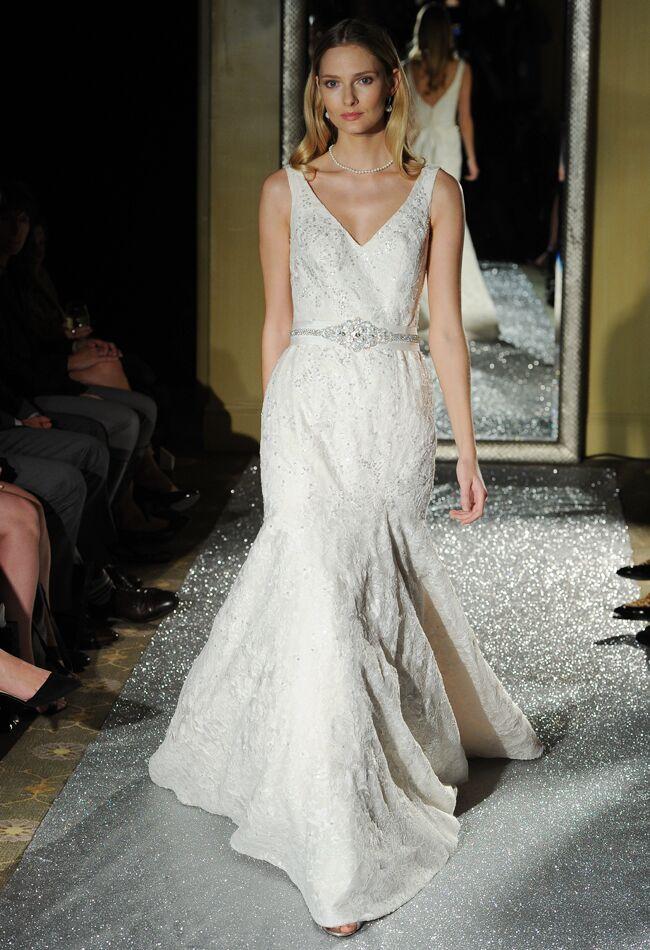 Oleg cassini wedding dresses 2015 showcases detailed floral oleg cassini wedding dresses fall 2015 maria valentinomcv photo blogeknot junglespirit Images