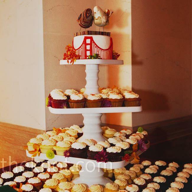 Wedding Cupcake Tower: A Modern Wedding In San Francisco, CA