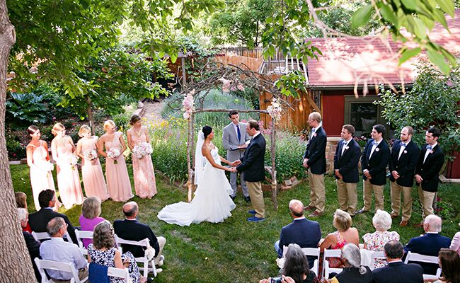 Backyard Ceremony | Frances Photography| Blog.theknot.com