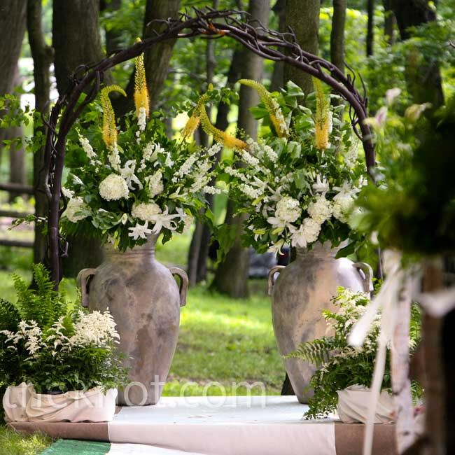 Wedding Altar Trees: An Outdoor Wedding In Champion, PA
