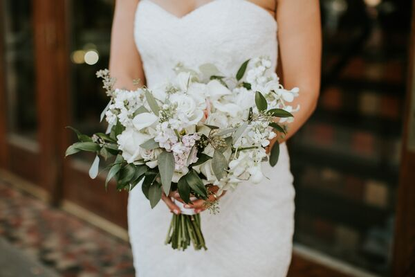 Clic White Calla Lily Bouquet Bridal With Vintage Flair