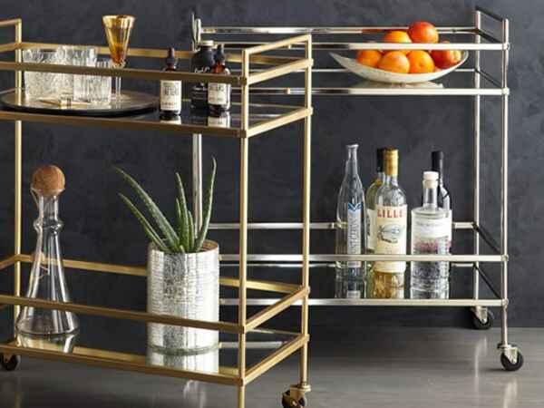 Bring a bar cart home for the holidays to keep your booze organized and help you make hosting a breeze.