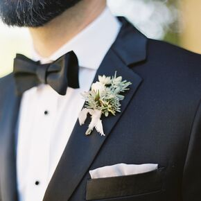 Sage And Ivory Wildflower Boutonniere