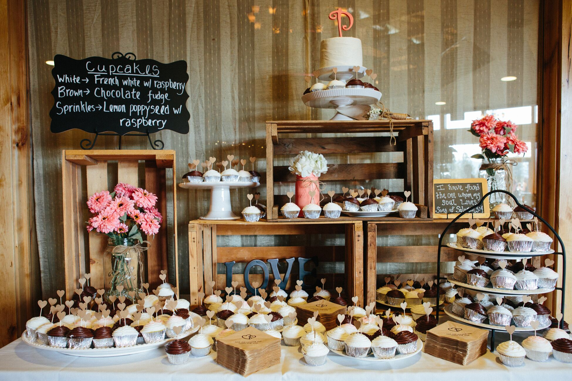 Wooden Candy Table ~ Rustic dessert bar display