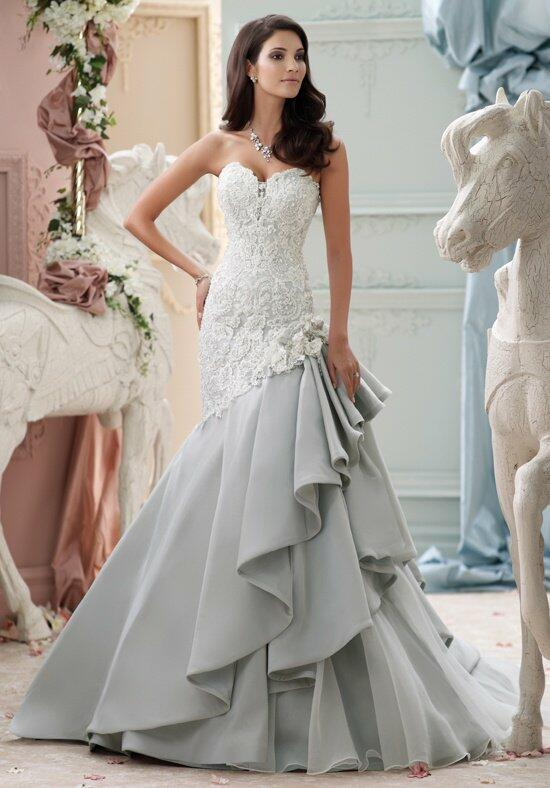 David Tutera for Mon Cheri 115230 Blue Wedding Dress photo