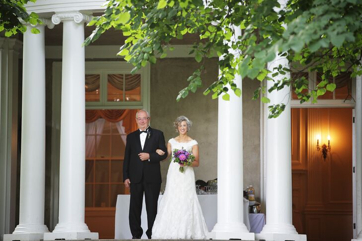 The wedding took place at Woodend Sanctuary, a historic home in Chevy Chase, Maryland, that is the headquarters of the Audubon Naturalist Society.