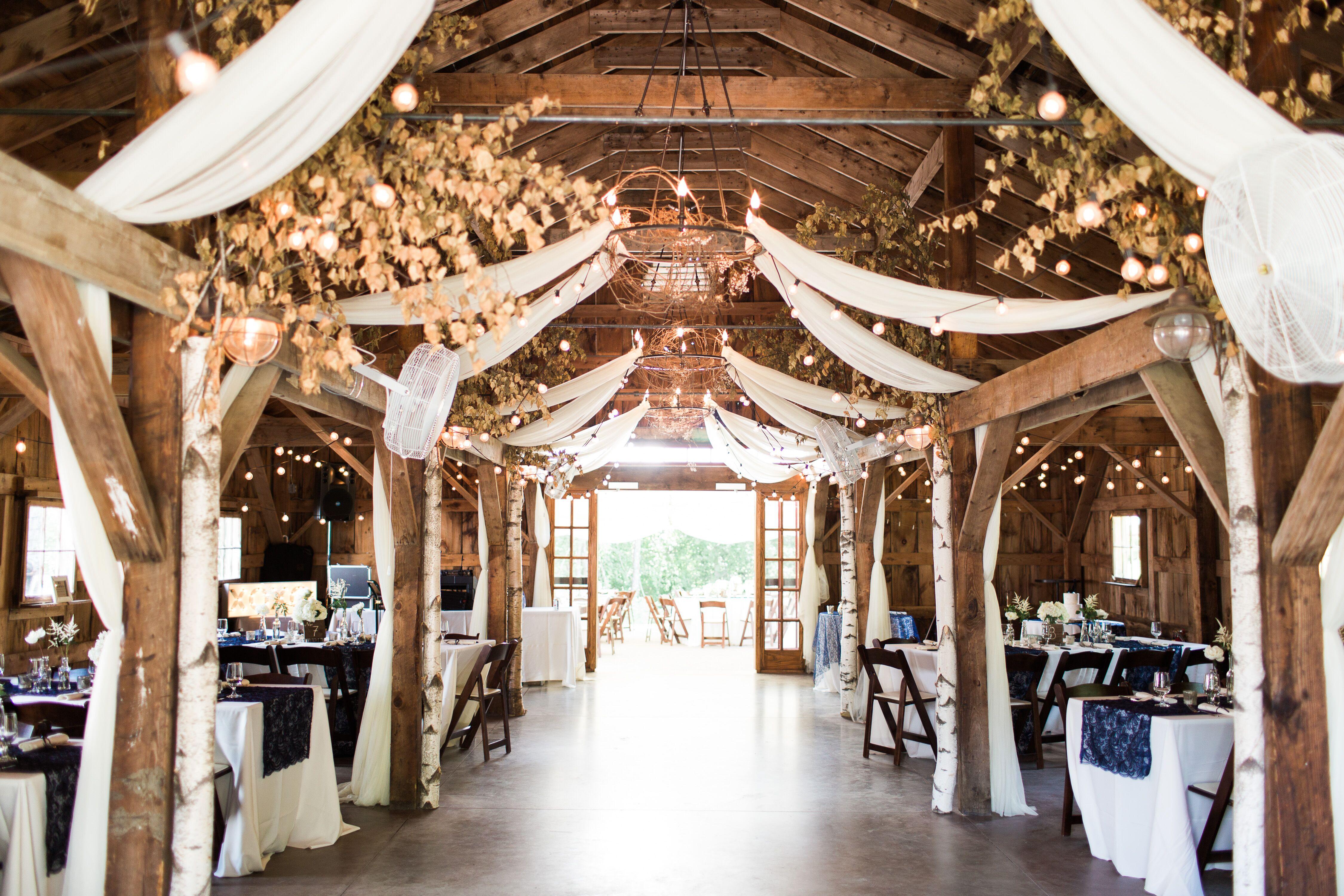 Elegant, Romantic Barn Reception at Longlook Farm