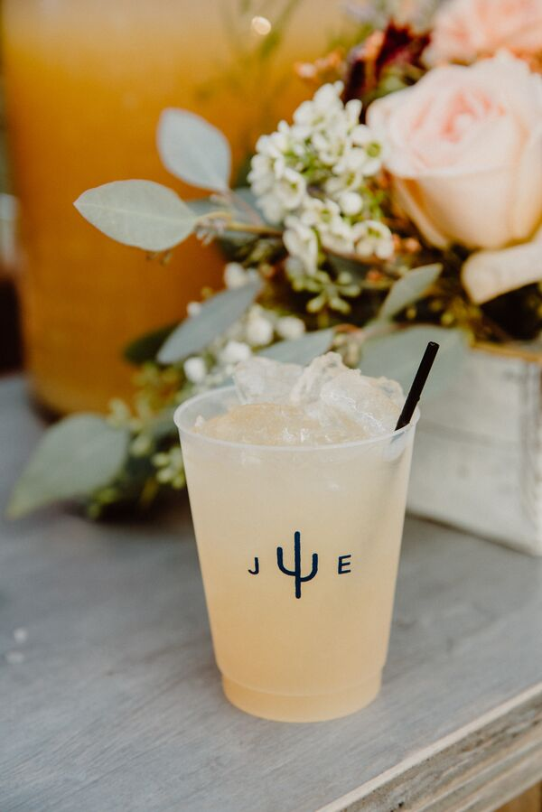 Monogrammed Drink Cups