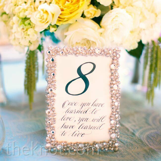 Ideas For Wedding Table Names: Table Name Ideas