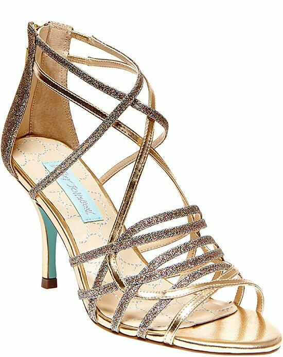 Blue by Betsey Johnson SB-Crown - Gold Wedding Shoes photo