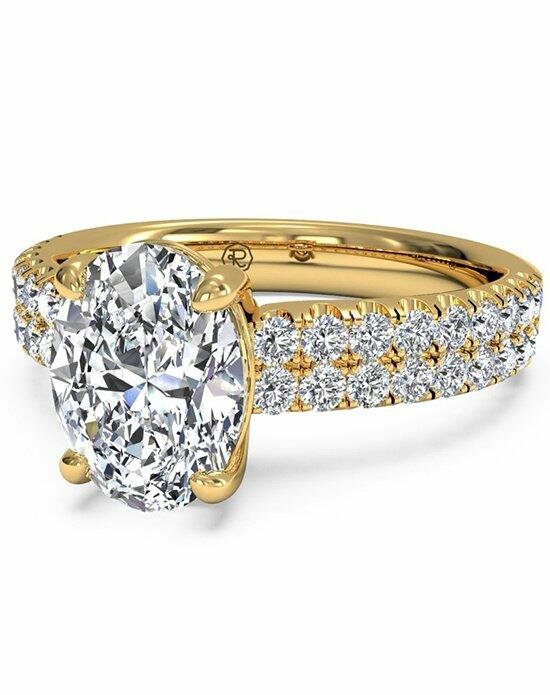 Ritani Oval Cut Double French-Set Band Engagement Ring in 18kt Yellow Gold (0.59 CTW) Engagement Ring photo