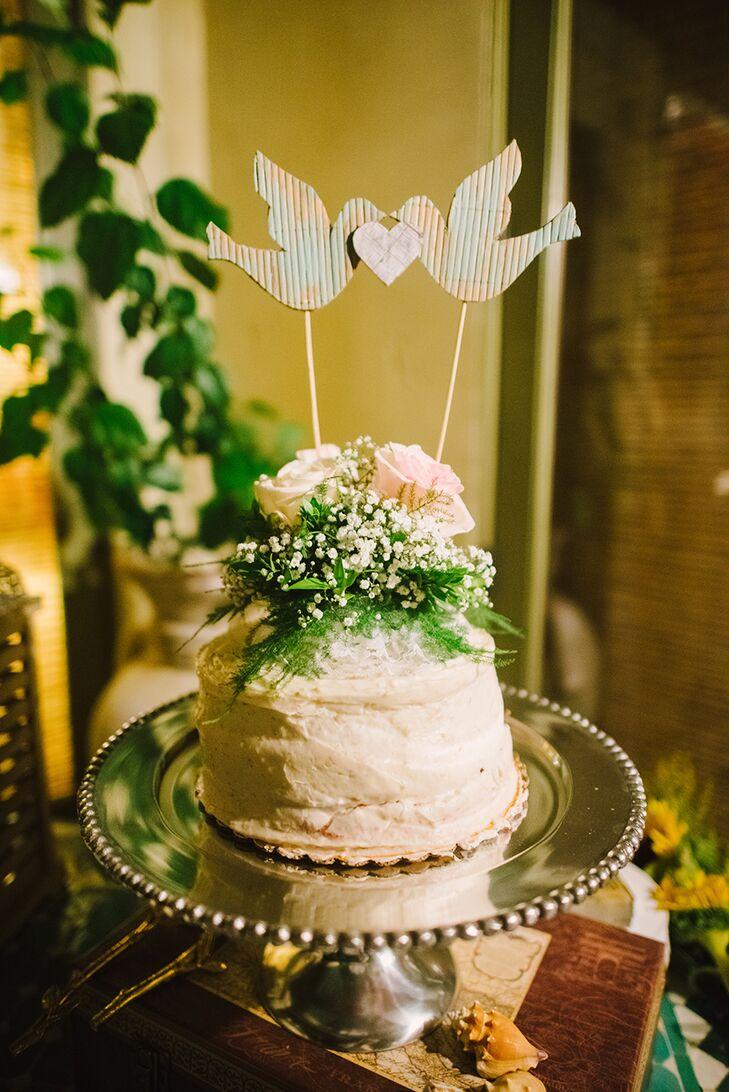 Paper Love Bird Cake Topper