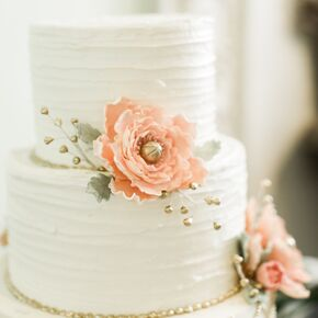 Elegant Simple Tiered Wedding Cake