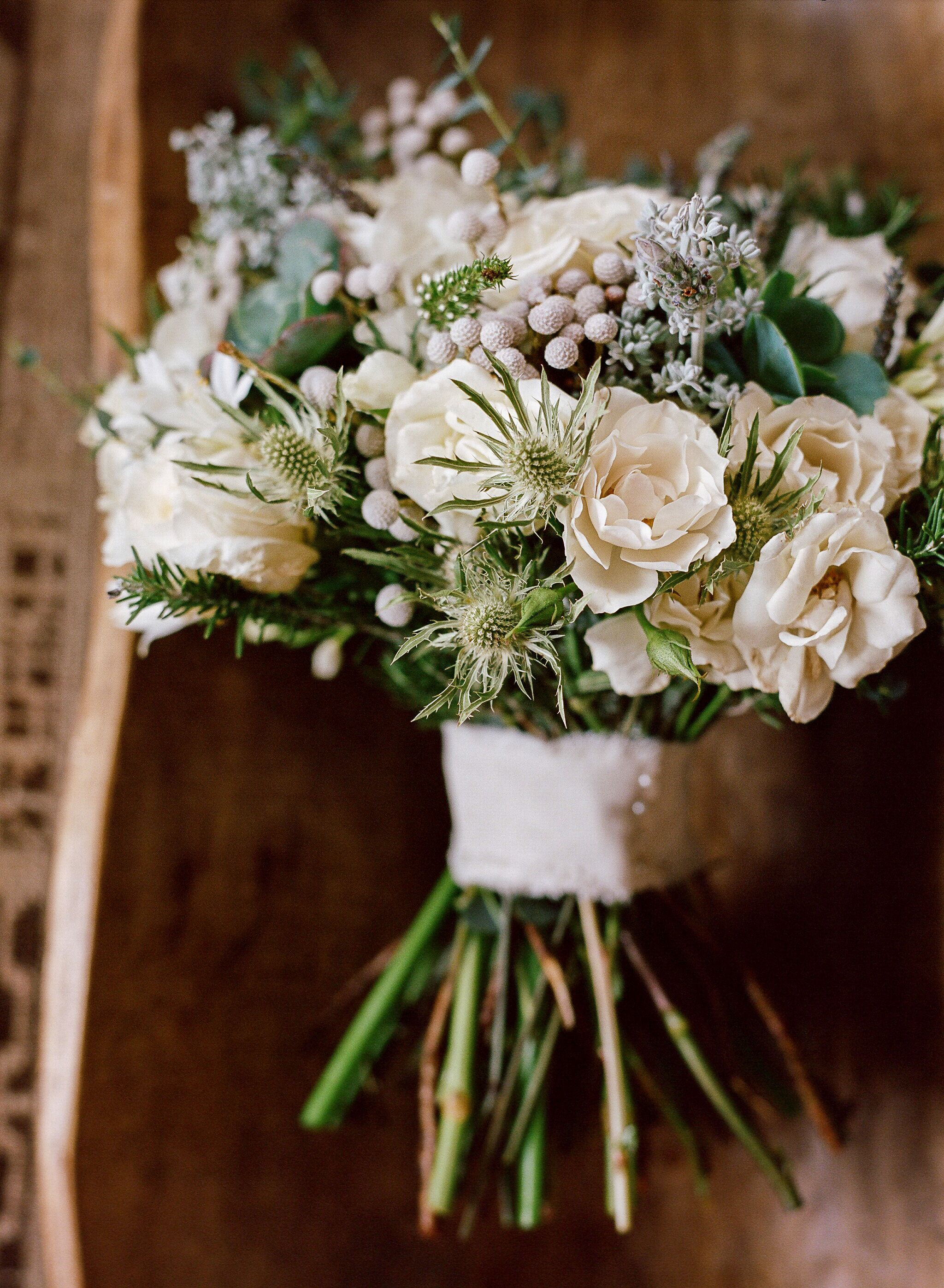 Winter Bouquet With Hydrangeas And Succulents
