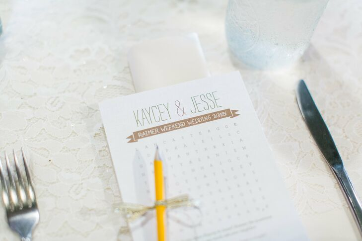 Personalized Wedding Word Search