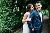Daniela (22 and a research assistant) and Franco Nilo (25 and a financial analyst) were married in an elegan
