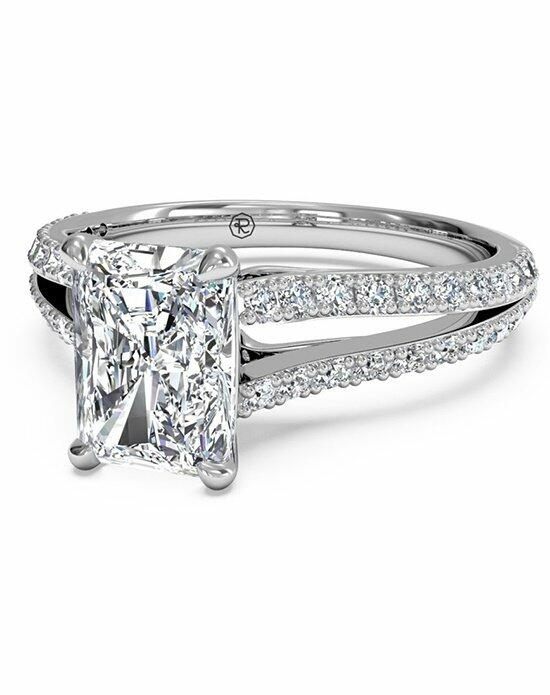 Ritani Radiant Cut Double French-Set Diamond 'V' Engagement Ring with Surprise Diamonds in Platinum (0.24 CTW)Radiant Cut Double French-Set Diamond 'V' Engagement Ring with Surprise Diamonds in Platinum (0.24 CTW) Engagement Ring photo
