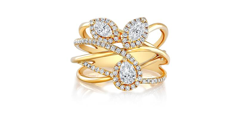 Natalie K yellow gold engagement ring