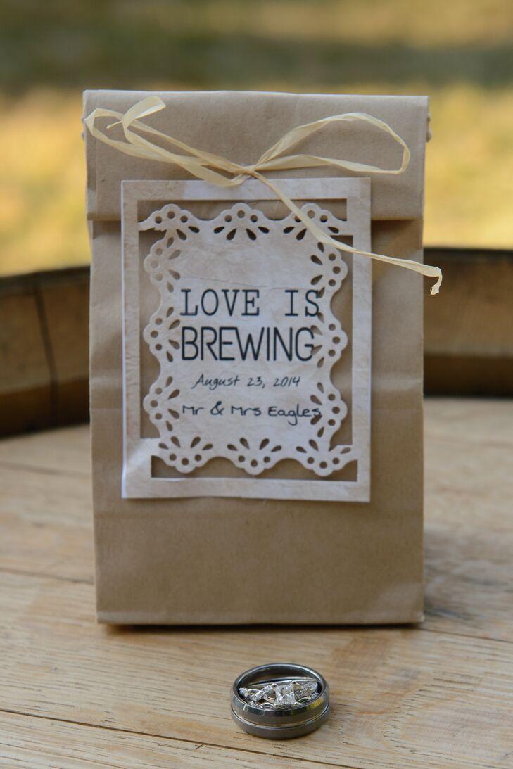 Bag Of Coffee Wedding Favor