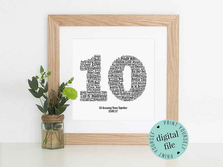 10 Wedding Anniversary Gift Ideas
