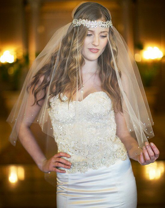 Laura Jayne Lucille Hair Ribbon & Veil Wedding Accessory photo
