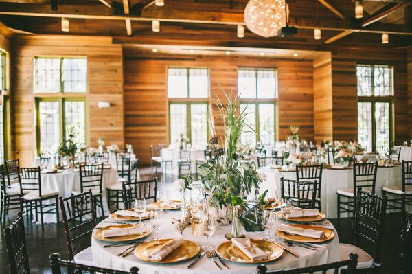 Green And Gold Accented Watercolor Inn Resort Reception