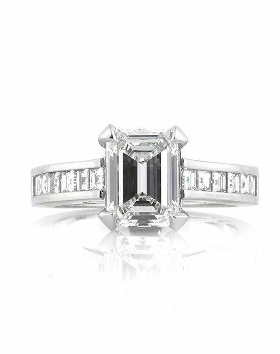 Mark Broumand 3.26ct Emerald Cut Diamond Engagement Ring Engagement Ring photo