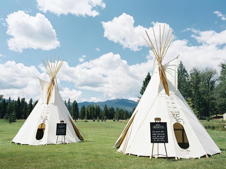 Wedding Teepee food stations