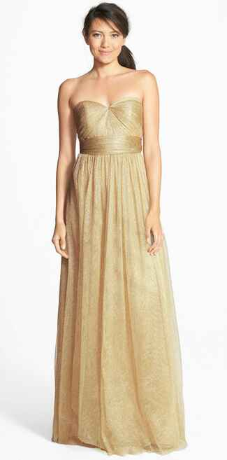 gold bridesmaid dress by Jenny Yoo