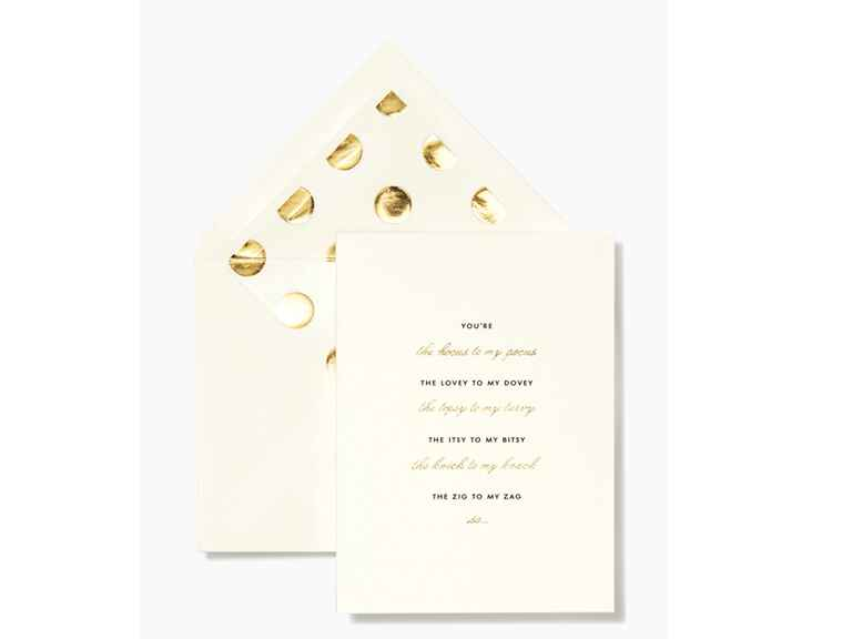 Kate Spade bridesmaid proposal card