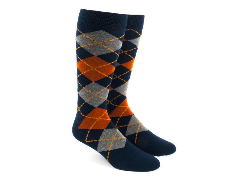 Plaid pair of groomsmen socks