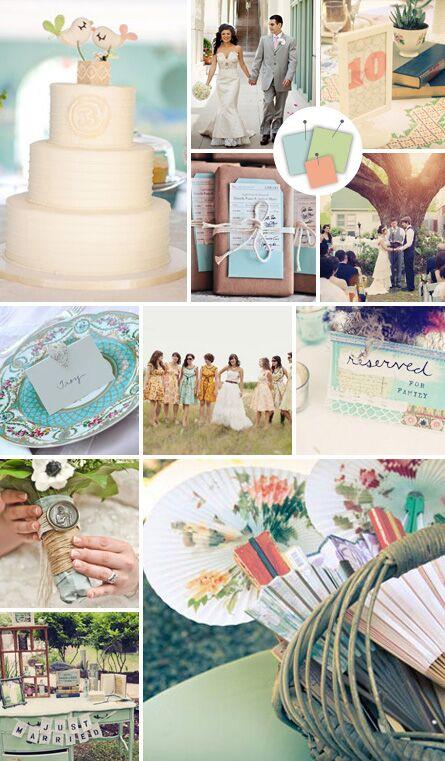 Wedding Colors: Vintage Wedding Color Palettes We Love