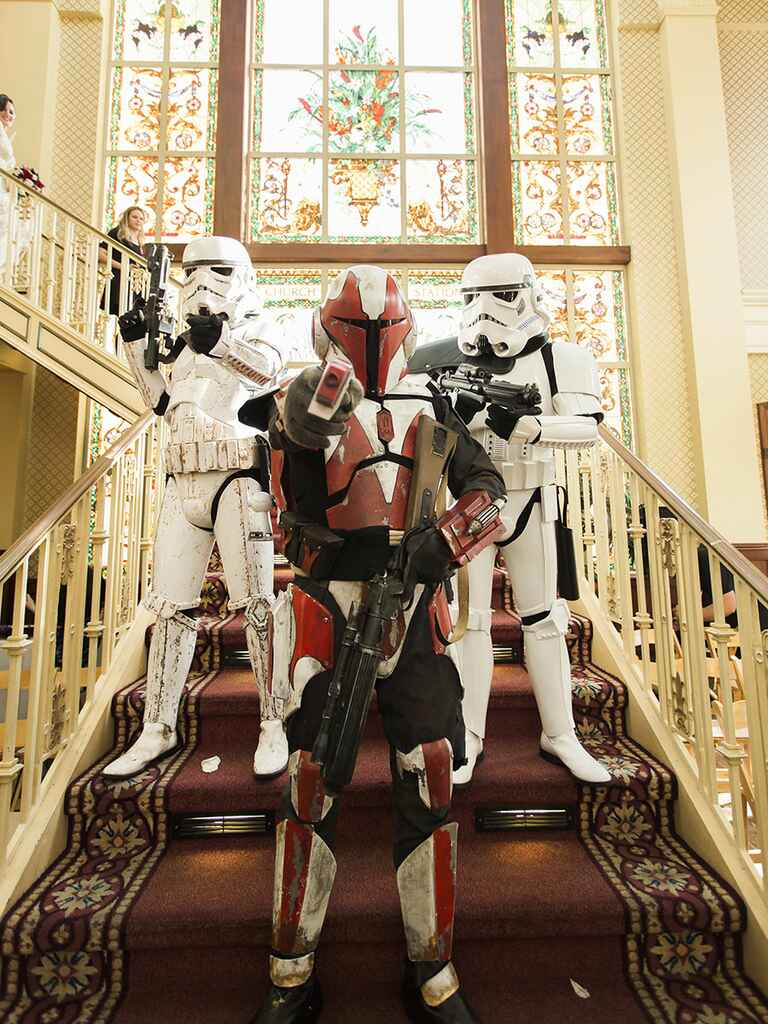 Star Wars stormtroopers wedding