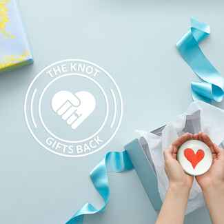 The Knot Gifts Back charity registry real wedding stories