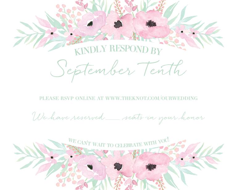 Wedding Invitation Text Ideas: Wedding RSVP Wording Ideas