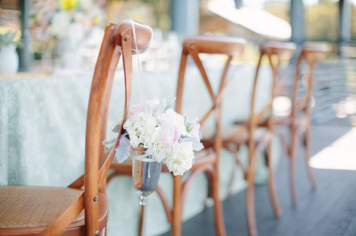 Floral Reception Chair Decor