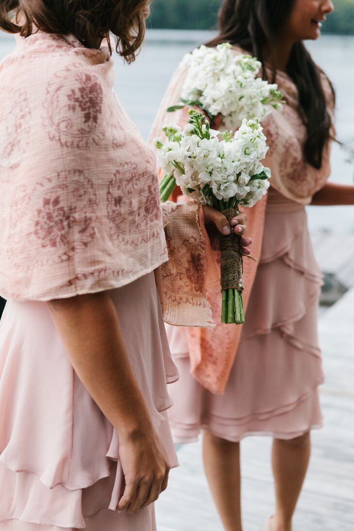 Blush Bridesmaid Shawls